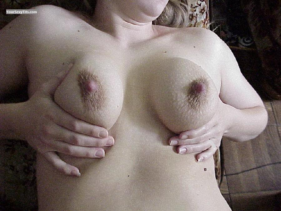 Tit Flash: Medium Tits - Lookinj from United StatesPierced Nipples