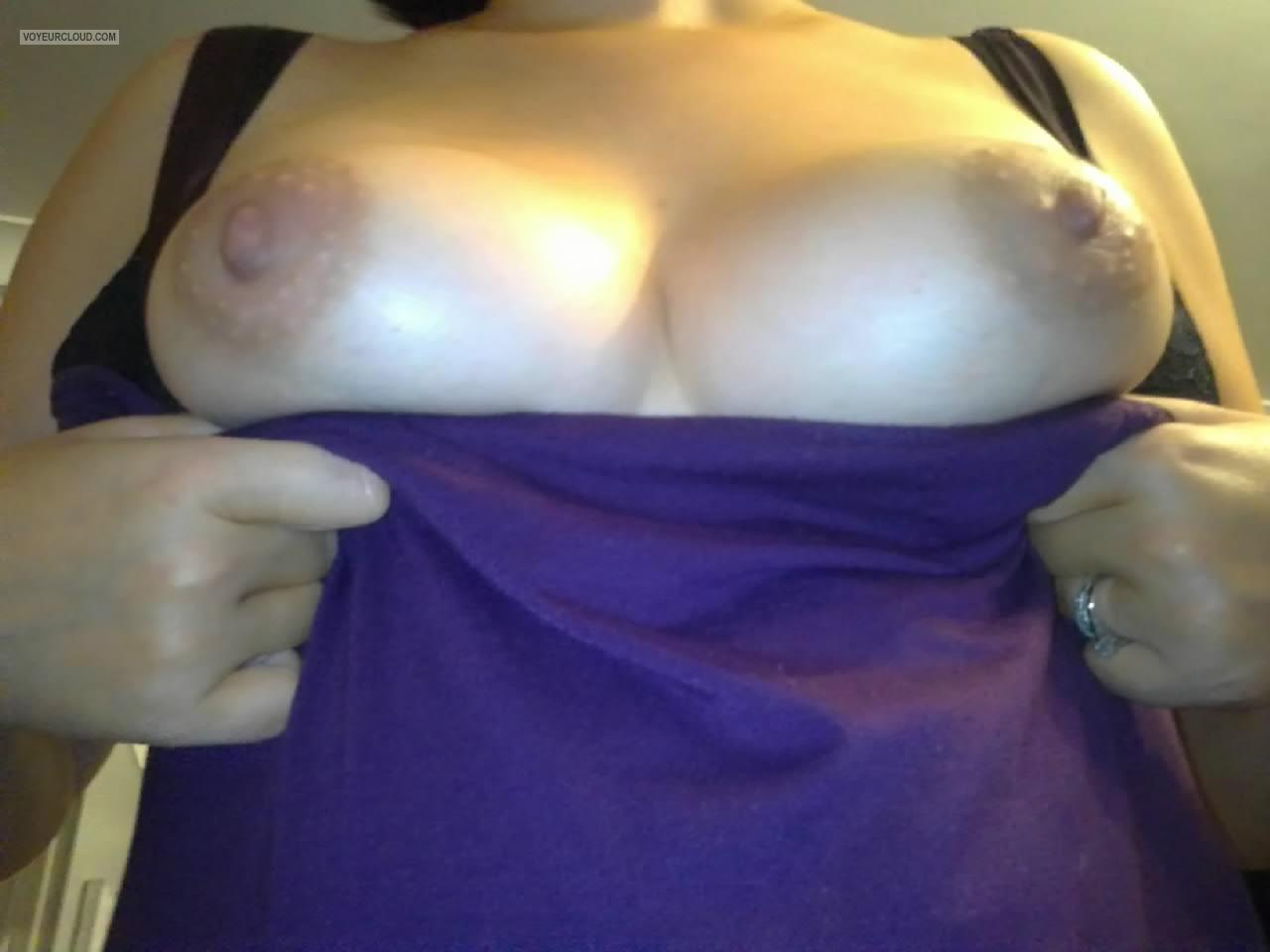 Tit Flash: My Medium Tits (Selfie) - Ems from United Kingdom