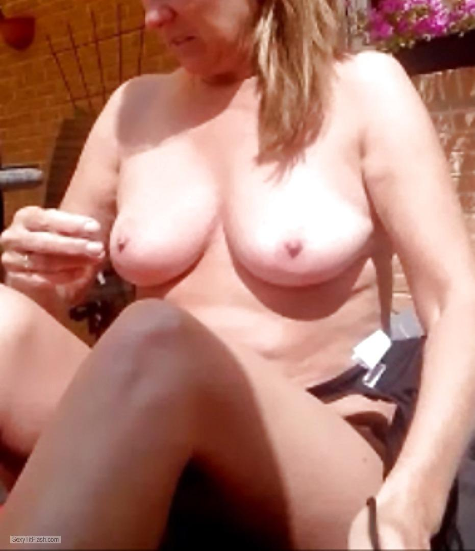 Tit Flash: My Medium Tits (Selfie) - YP from United States
