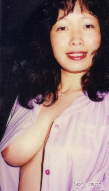 Tit Flash: Wife's Medium Tits - Sook from United States