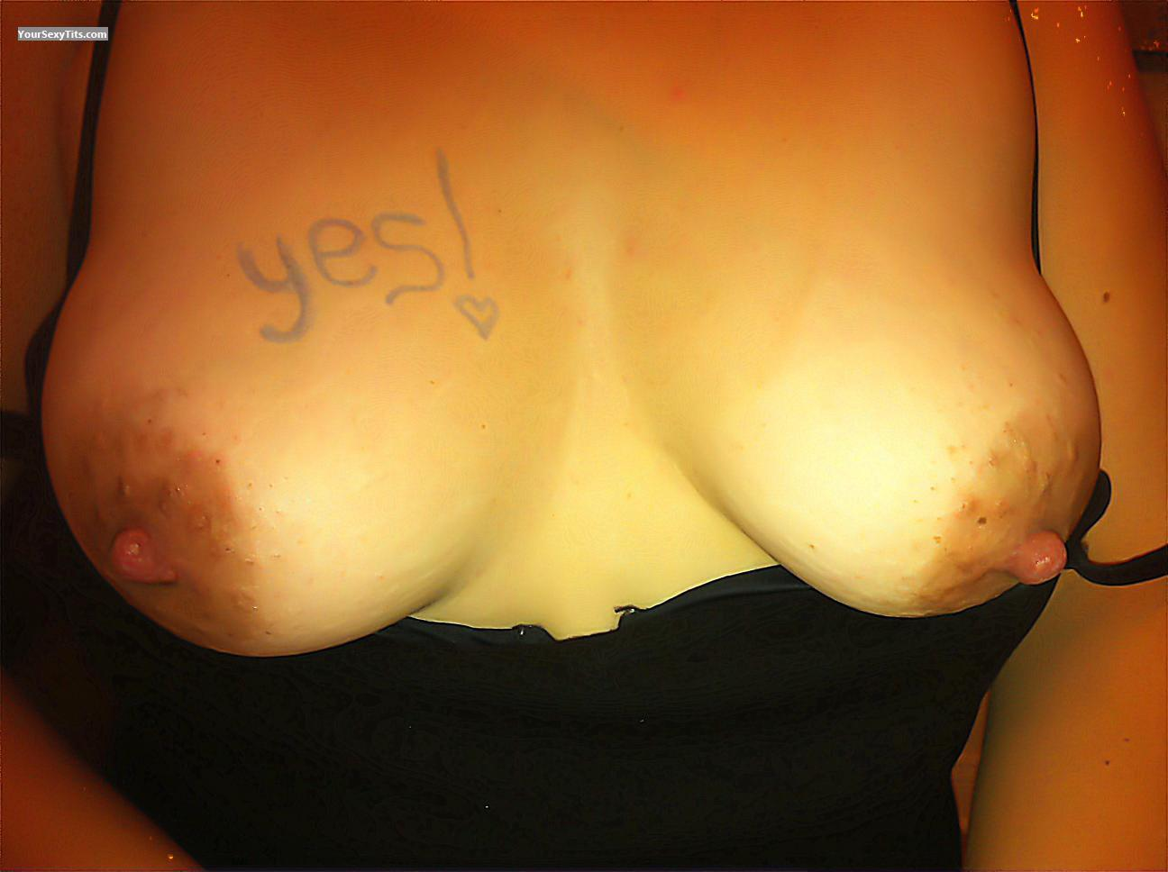 Tit Flash: My Medium Tits (Selfie) - Anne5 from Canada