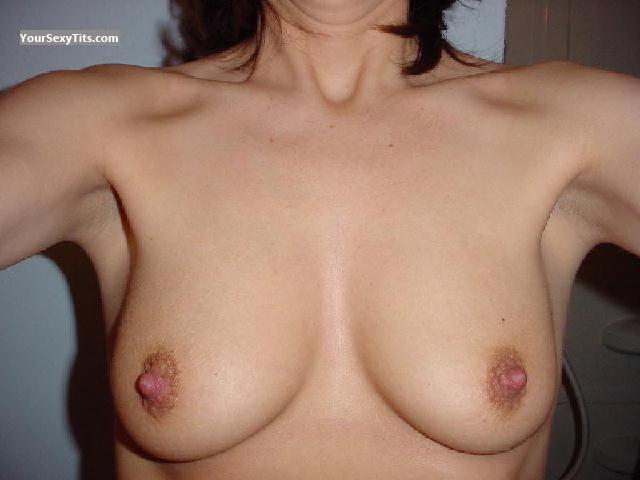 Tit Flash: My Medium Tits (Selfie) - B from United States