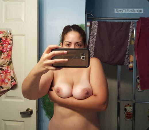 My Medium Tits Topless Selfie by Horney