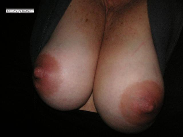 Tit Flash: Medium Tits - Tanlines from United States