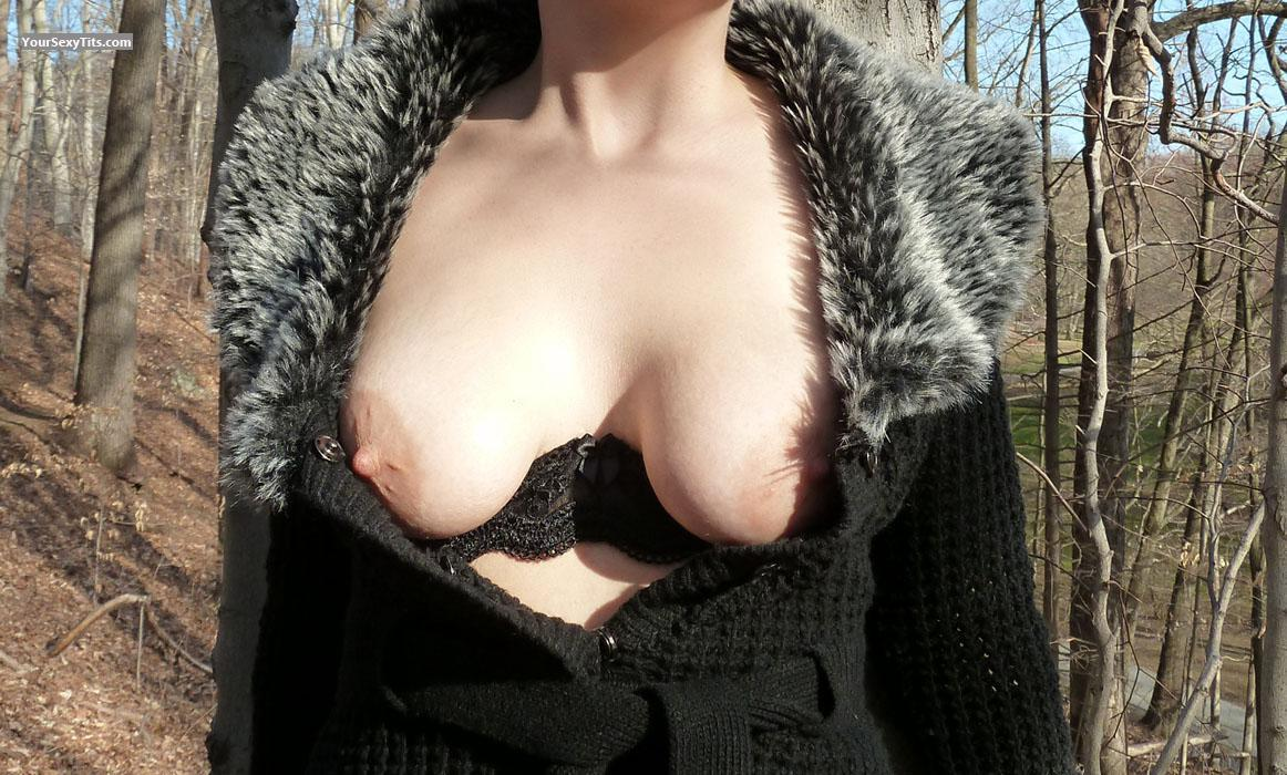 Tit Flash: Girlfriend's Medium Tits - Wicked from United Kingdom