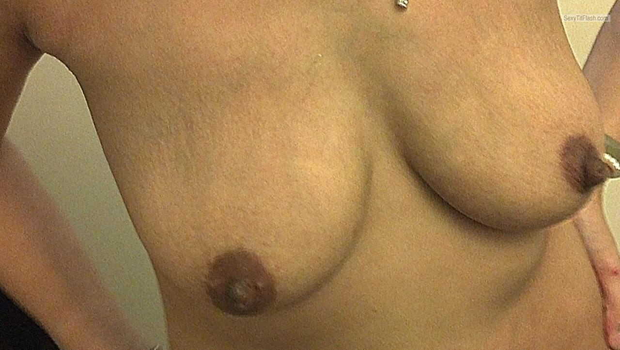 Tit Flash: Wife's Medium Tits - Averagecouple from United States