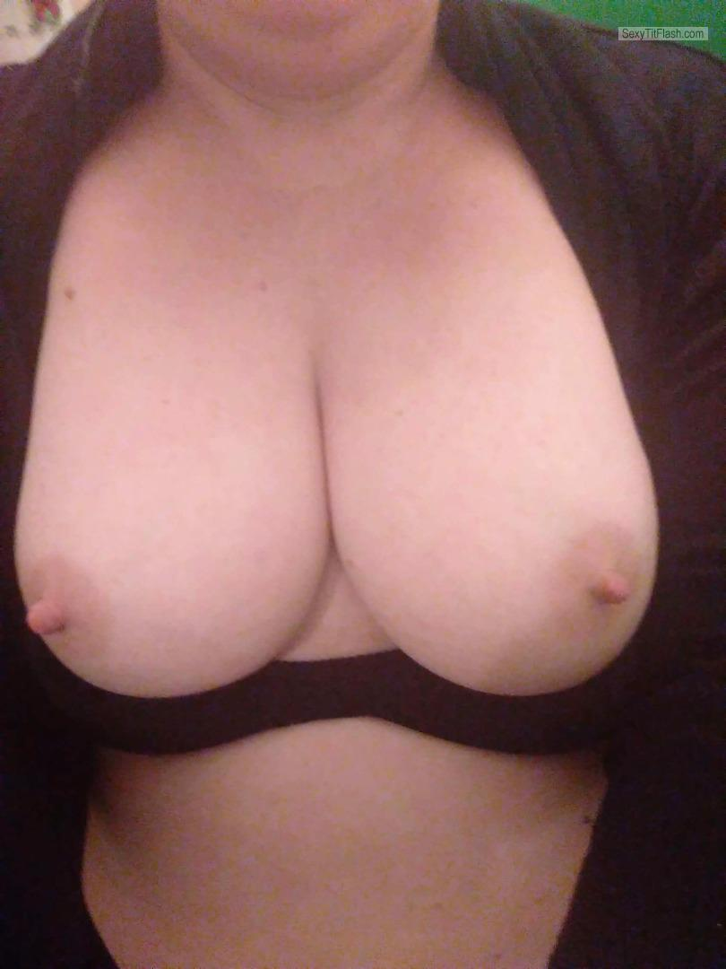 Tit Flash: Wife's Medium Tits (Selfie) - Djs74 from New Zealand