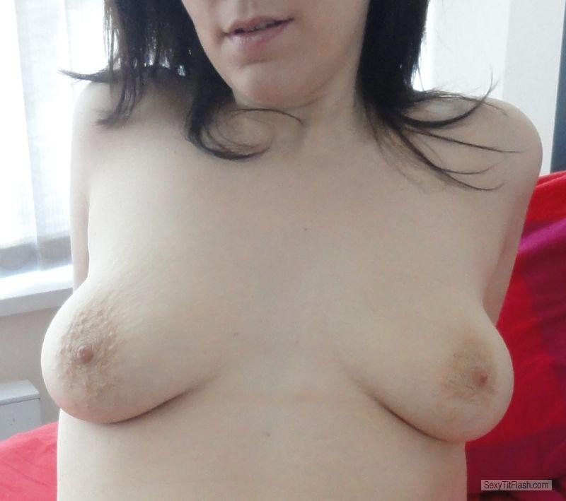 Tit Flash: Wife's Small Tits - Angie1983 from Canada