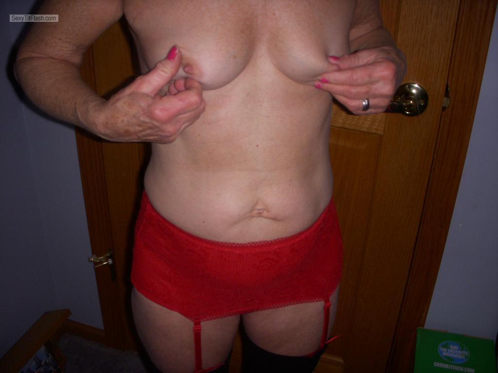 Tit Flash: Wife's Small Tits - Judy from United States