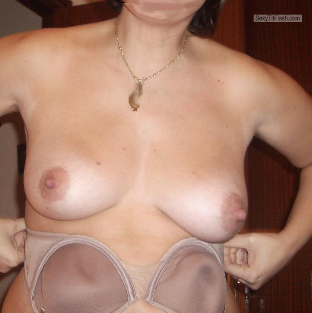Tit Flash: Wife's Medium Tits - Buscossesso from Spain