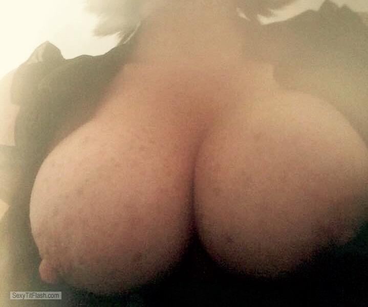 Tit Flash: My Medium Tits (Selfie) - Hot T from United Kingdom