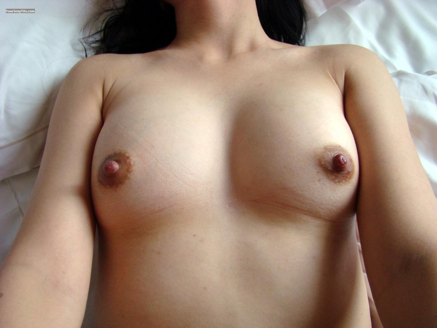 Tit Flash: My Small Tits By IPhone (Selfie) - Lin from China