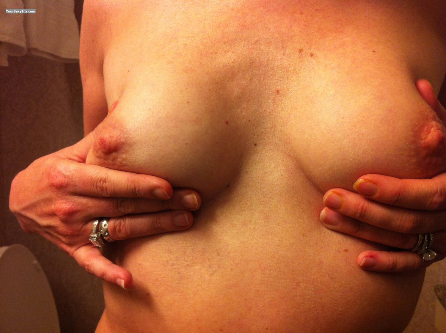 Tit Flash: Small Tits By IPhone - Shy from United States