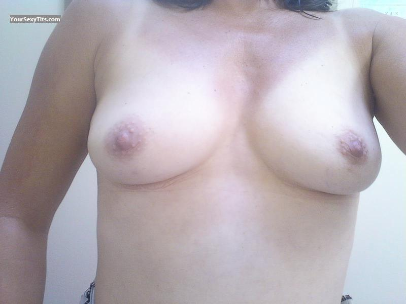 Tit Flash: My Small Tits By IPhone (Selfie) - Heather from United States