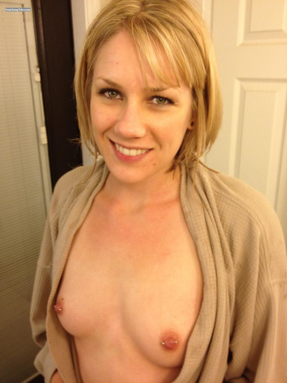 Tit Flash: Small Tits By IPhone - Topless Voyeurvirgin from United StatesPierced Nipples