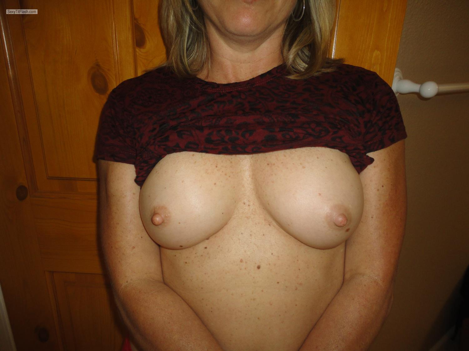 Tit Flash: Small Tits By IPhone - Nurse Cris from United States