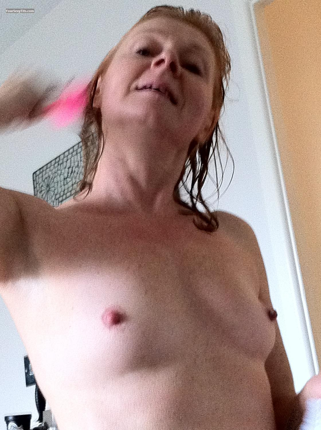 Tit Flash: Small Tits By IPhone - Topless J from United KingdomPierced Nipples