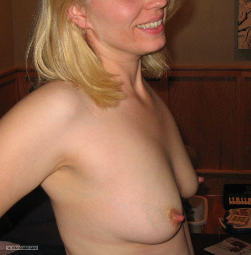 Lactating boob flashing
