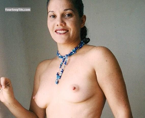 Tit Flash: Small Tits - Topless Kosi from Venezuela