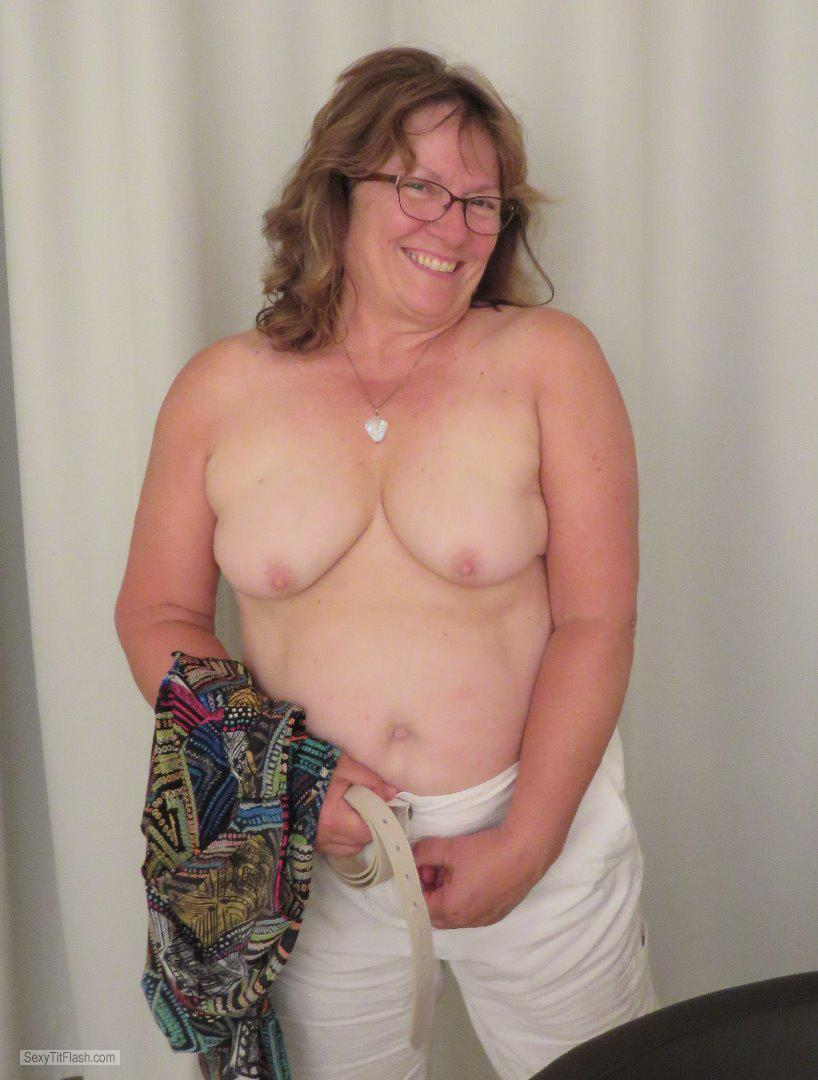 Tit Flash: My Small Tits - Topless Karenkri from United Kingdom