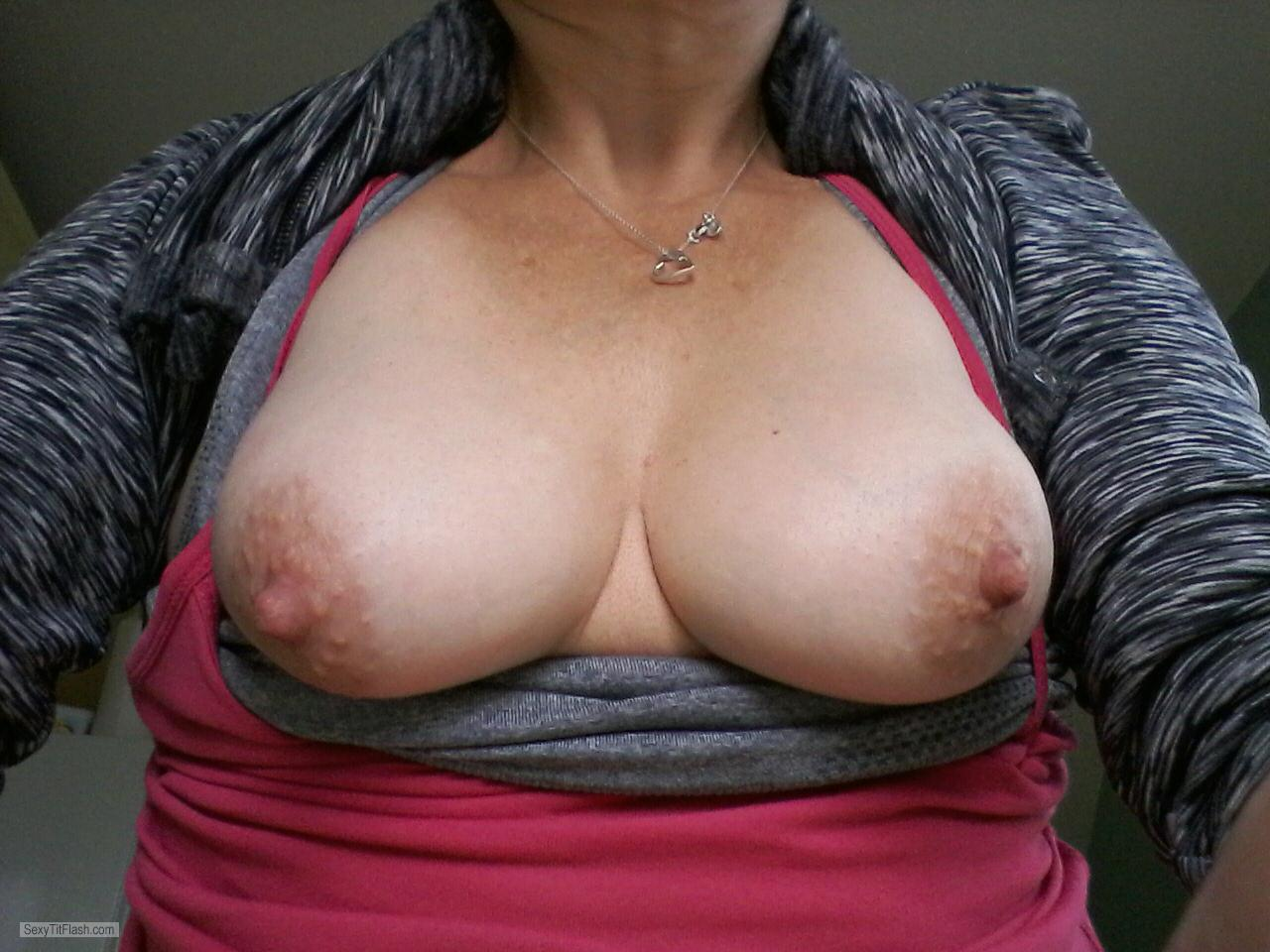 Tit Flash: My Small Tits (Selfie) - A Wife from United Kingdom