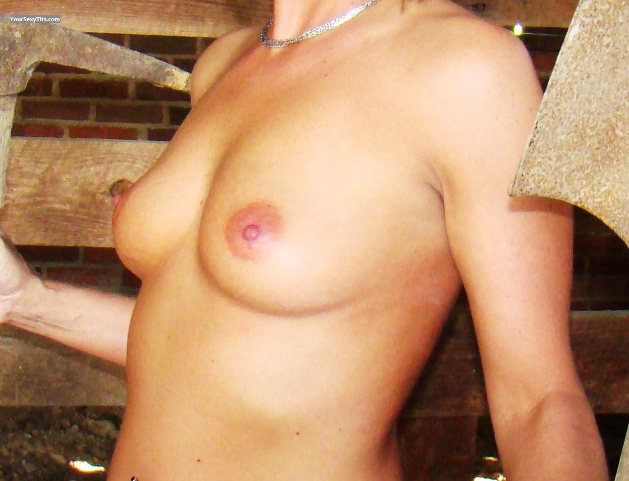 Tit Flash: Small Tits - Country Girl from United States