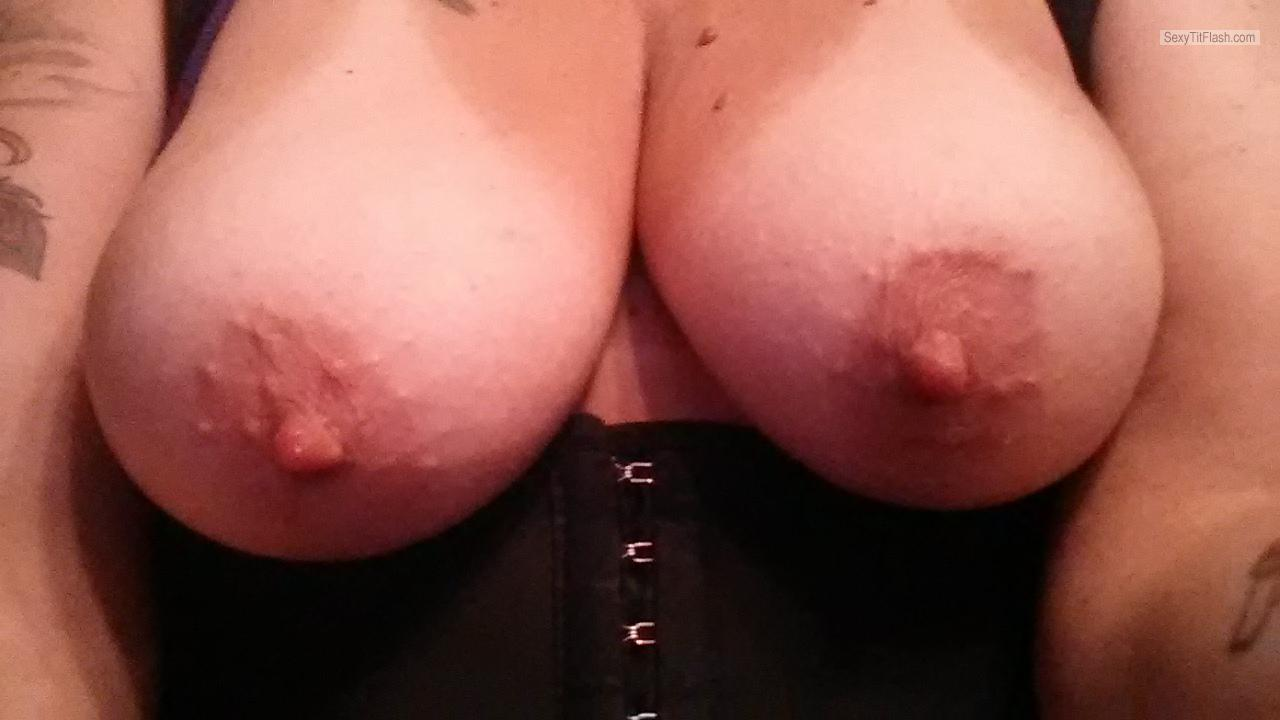 Tit Flash: My Tanlined Small Tits (Selfie) - Judie from United Kingdom