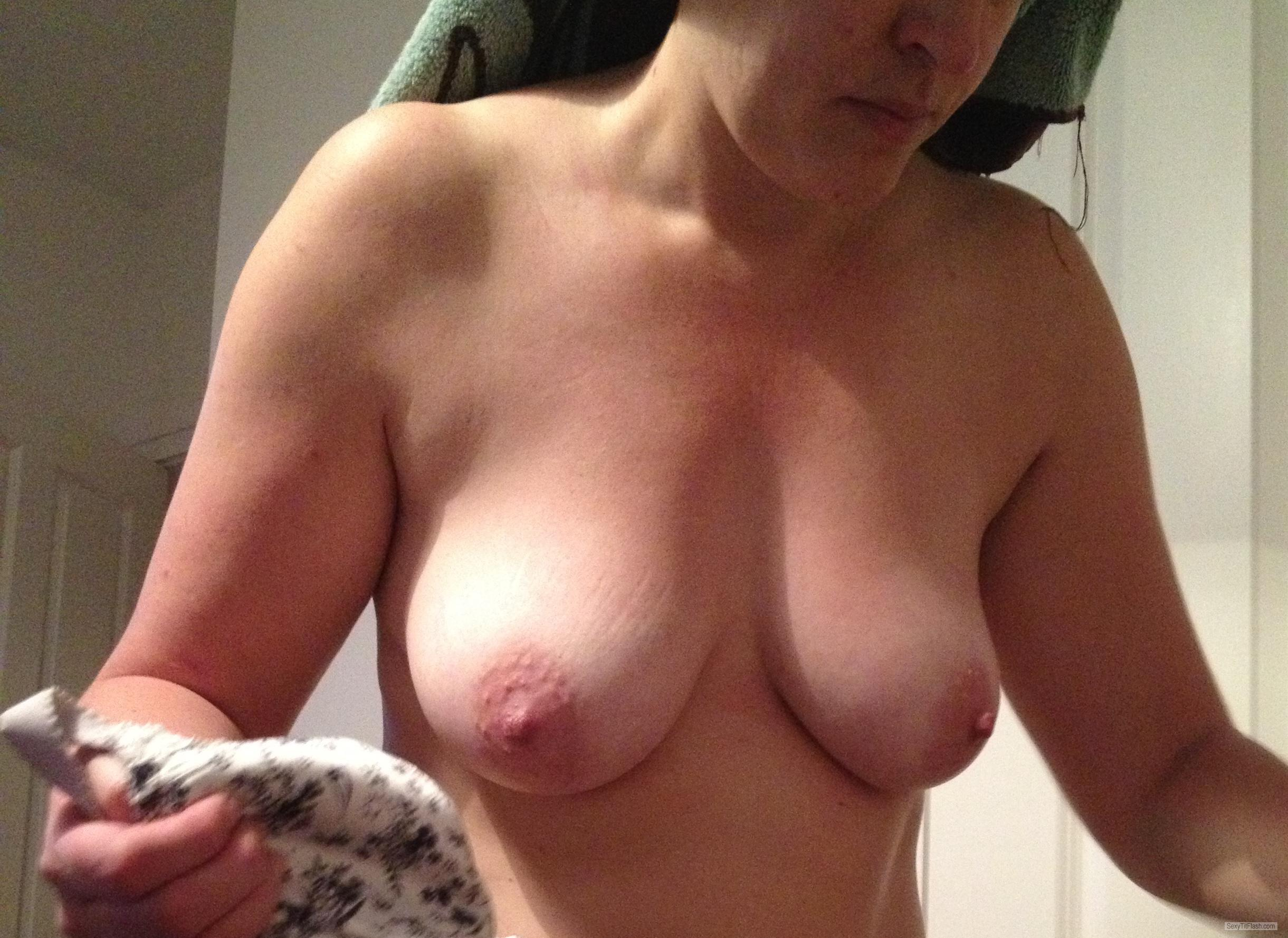 Tit Flash: Wife's Small Tits - Marrow from United Kingdom