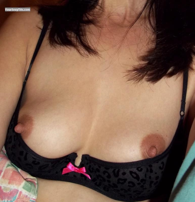 Tit Flash: Wife's Small Tits - Trudi from United States