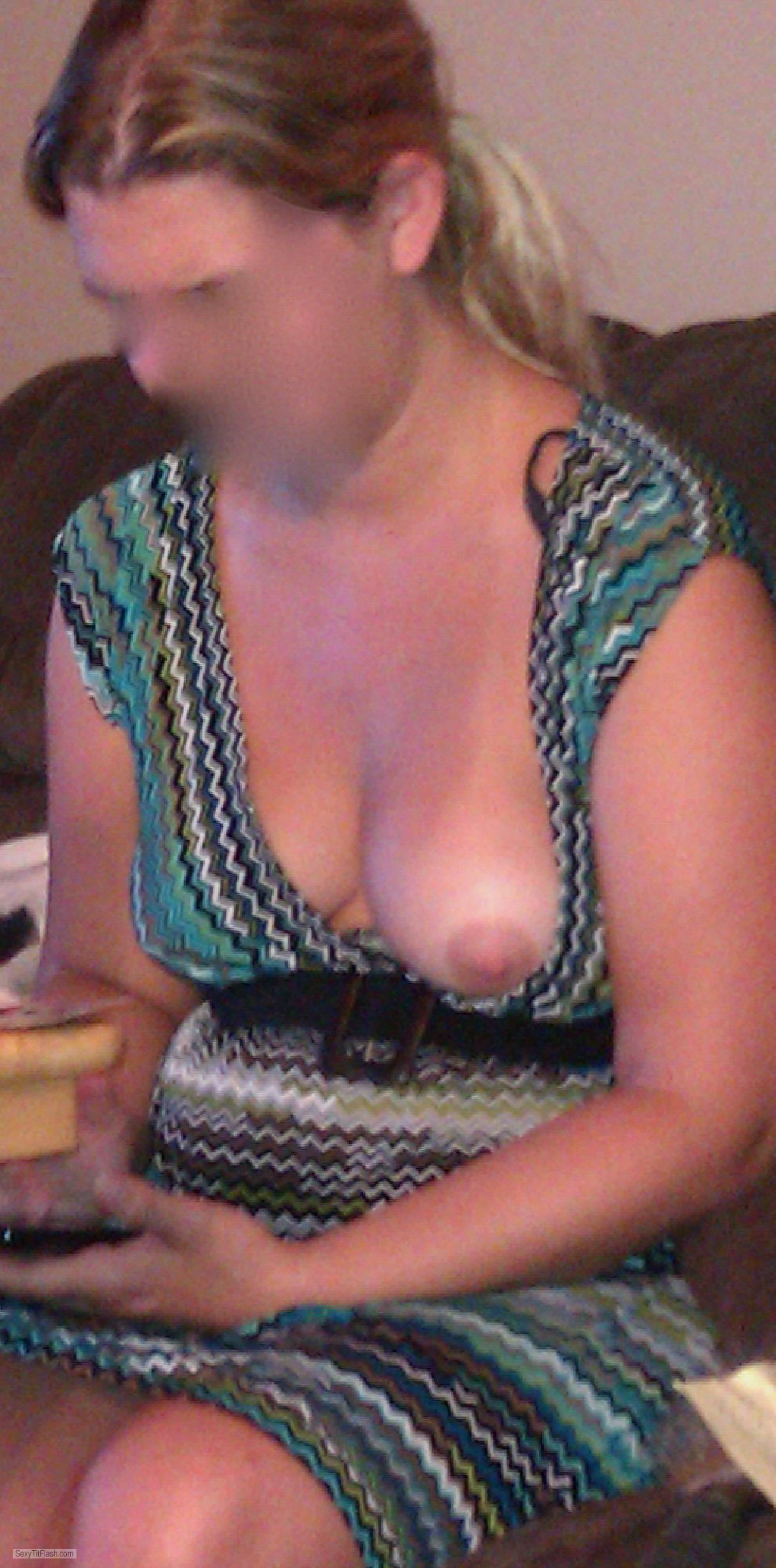 Tit Flash: Wife's Small Tits - Tiffani from United States