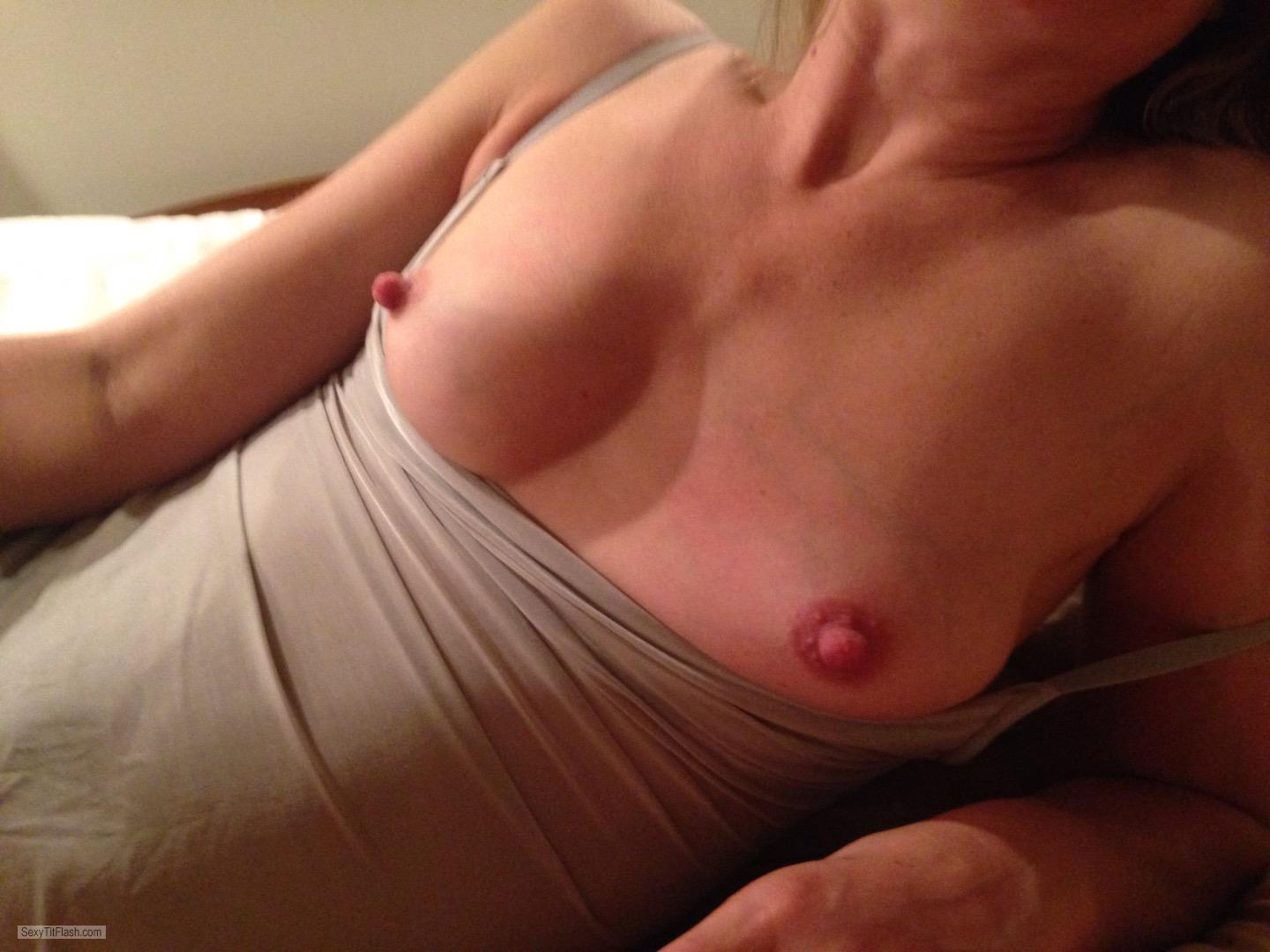 Tit Flash: Wife's Small Tits - Kelly from United States