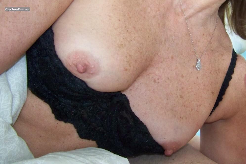 Tit Flash: Girlfriend's Small Tits - Allison from United States
