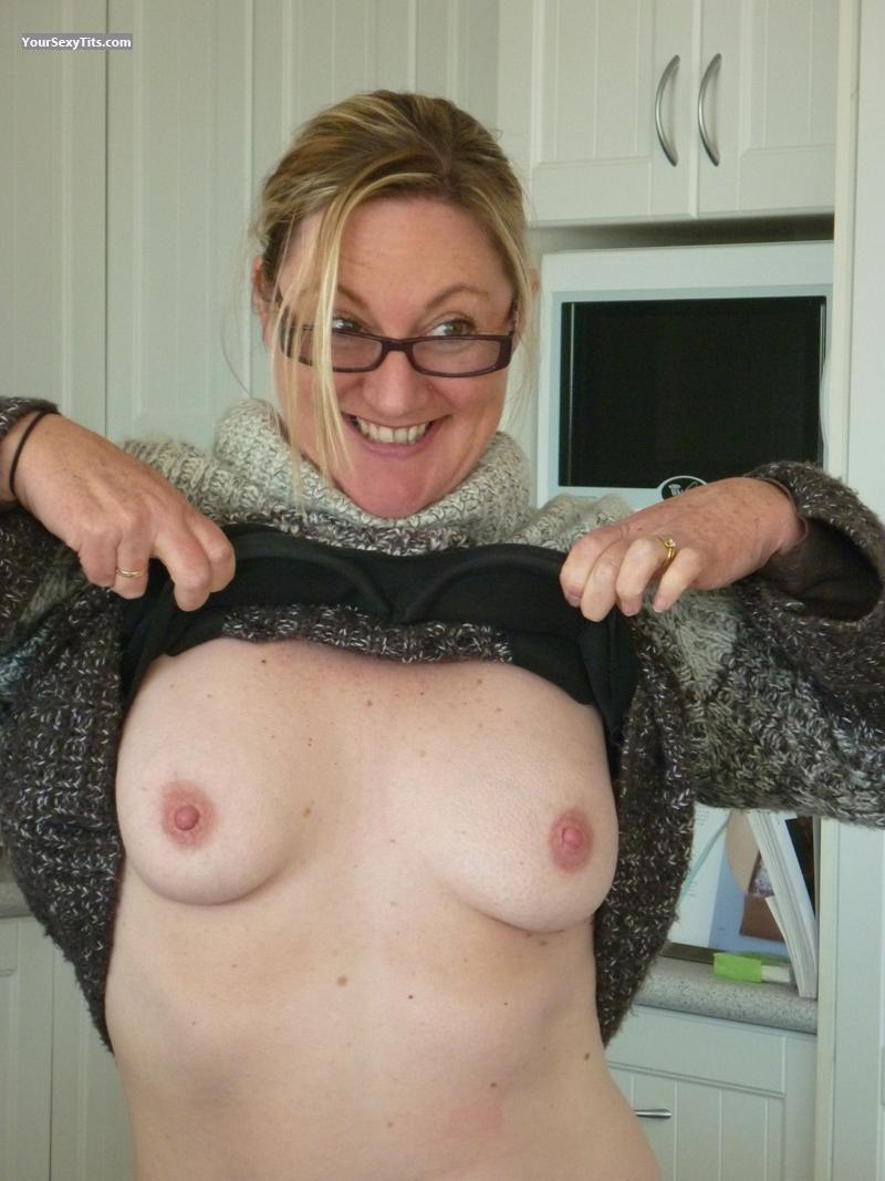 Tit Flash: Small Tits - Topless Fluffy Bear from Australia