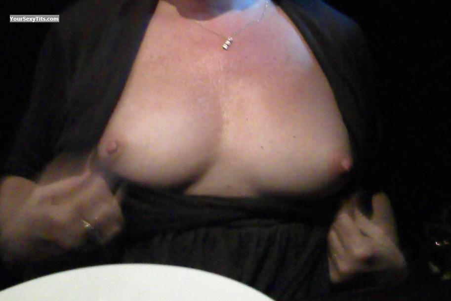 Small Tits Out For Dinner