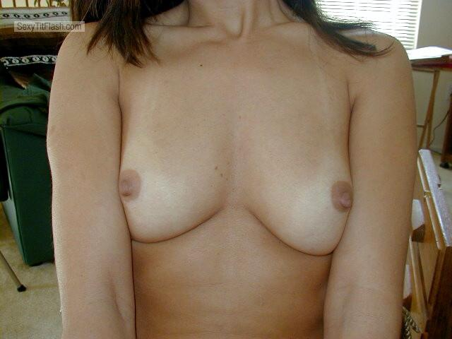 Tit Flash: Wife's Small Tits - My Hottie from United States