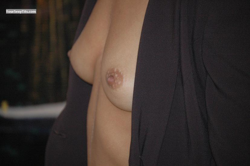 Tit Flash: Girlfriend's Small Tits - Meija from French Southern Terr.