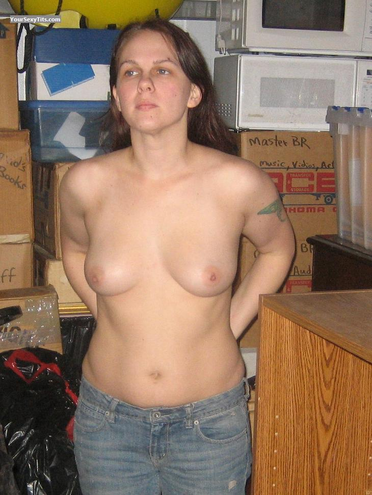 Tit Flash: Small Tits - Topless S from United States