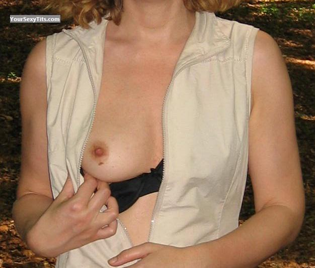 Tit Flash: Girlfriend's Small Tits - Gc From France from France