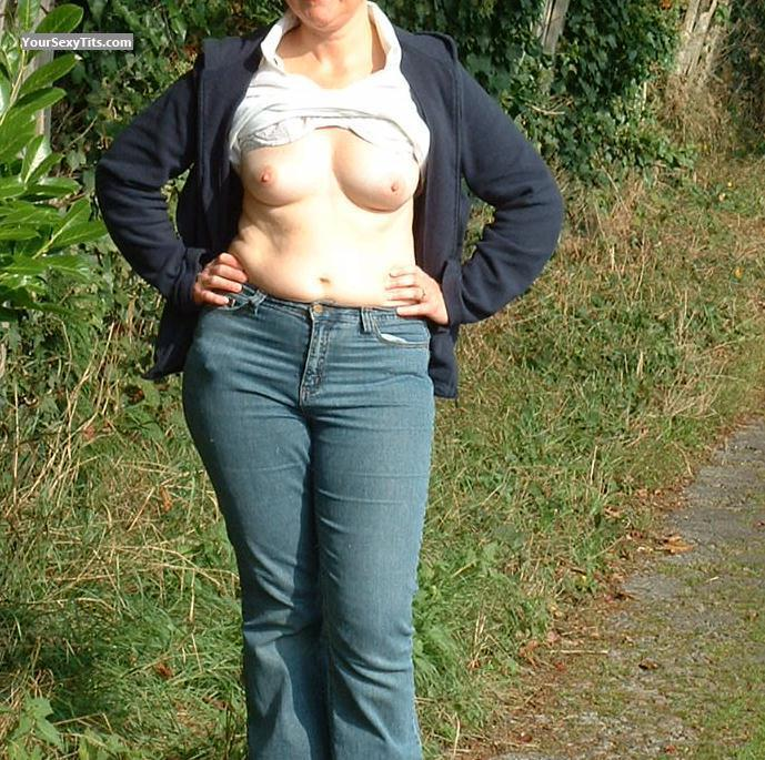 Tit Flash: Small Tits - Nice Nips from United Kingdom
