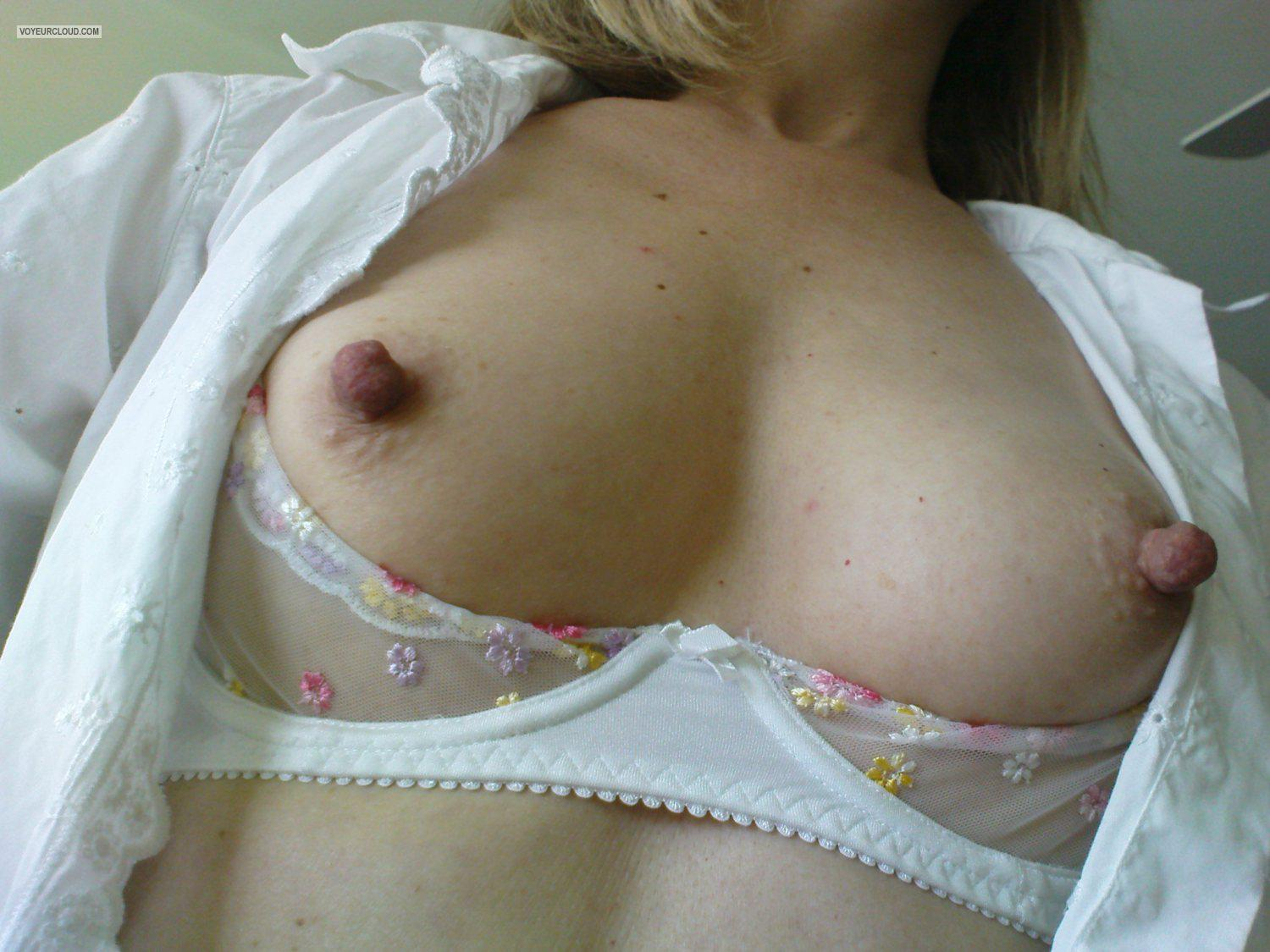 Large tits small hard nipples