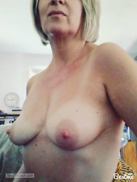 Tit Flash: My Small Tits (Selfie) - Topless Elisa from Italy