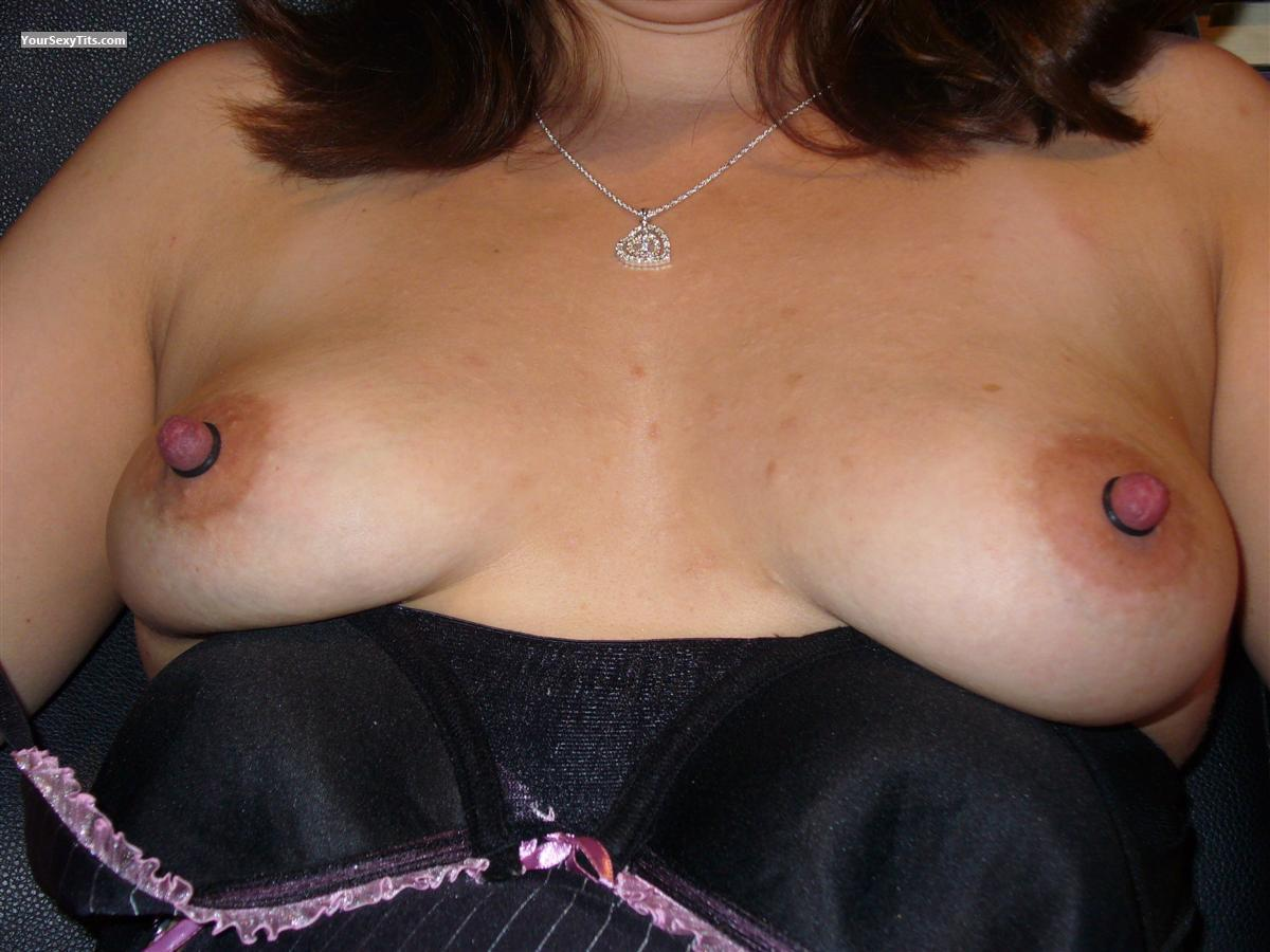 Tit Flash: Small Tits - Banded Nips from United States