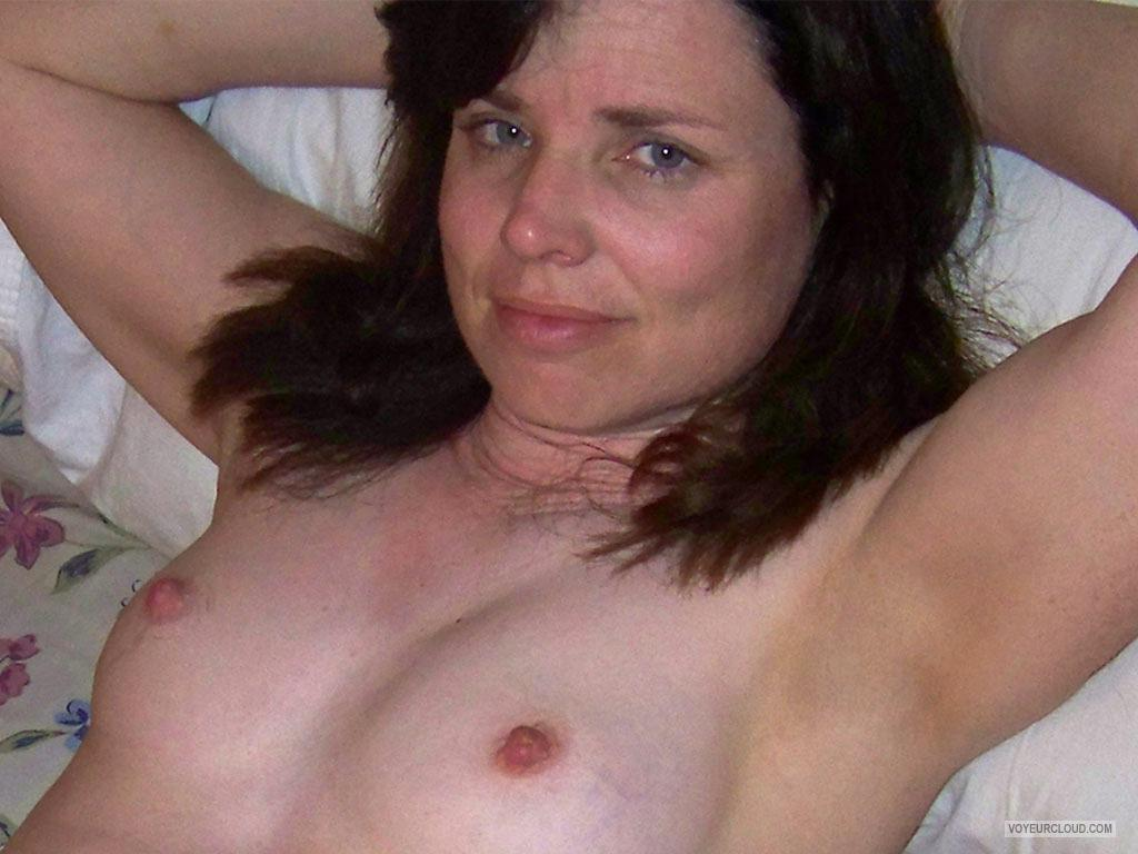 Tit Flash: Wife's Small Tits - Topless Realtilf from United States