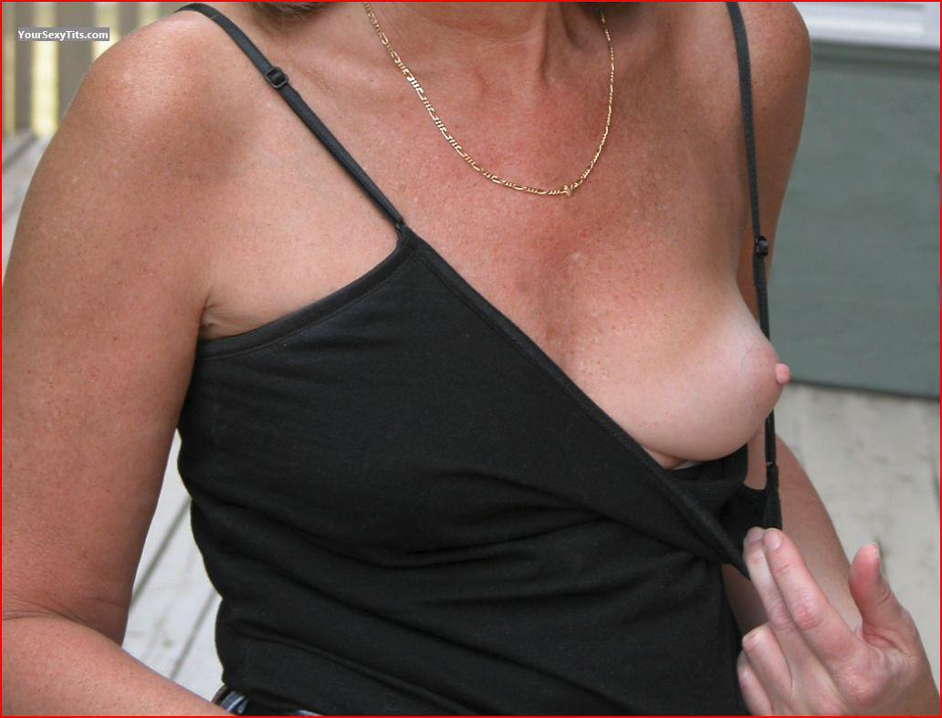 Tit Flash: Small Tits - Eli from Canada
