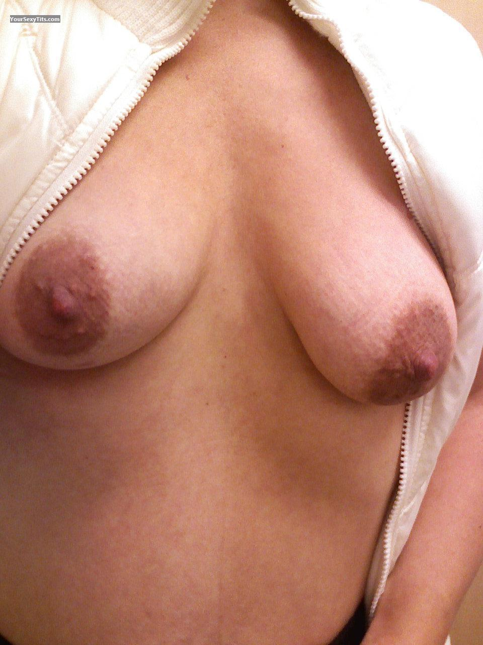 Tit Flash: My Small Tits (Selfie) - Tatas from United States