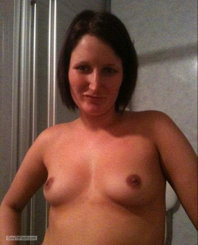Tit Flash: My Small Tits - Topless Carly Watson Perth from United Kingdom