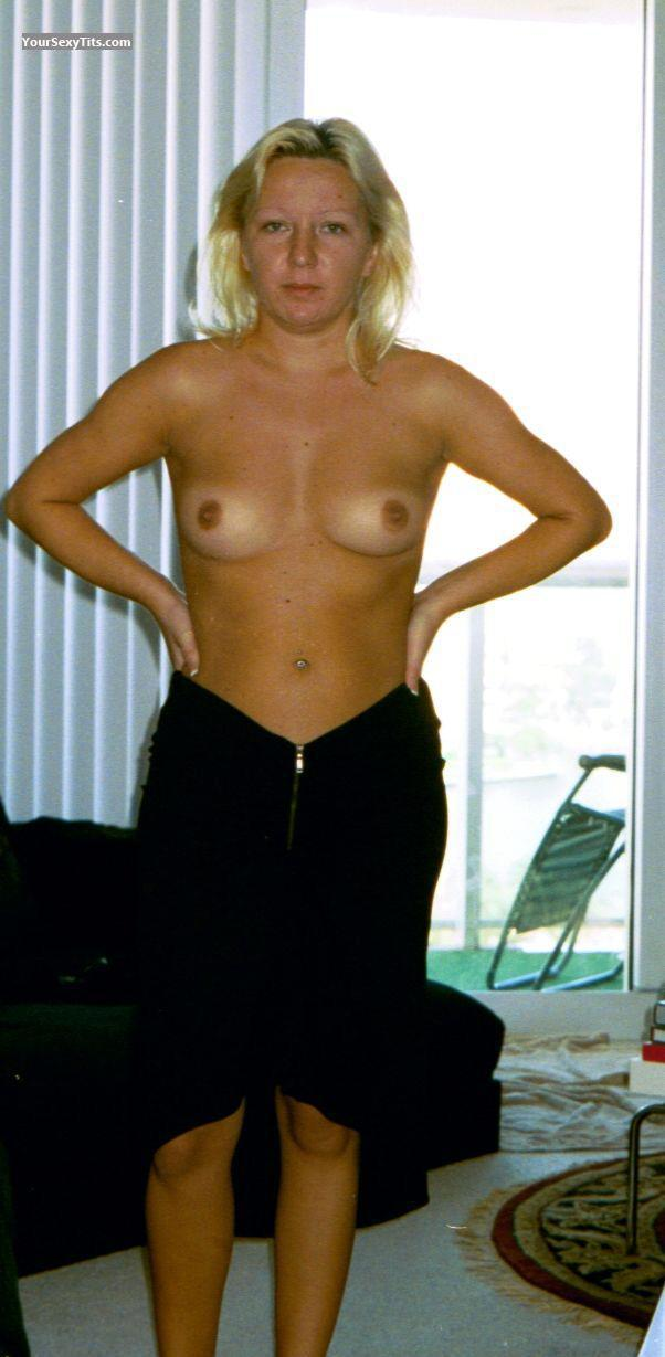 Tit Flash: Small Tits - Topless POLISH WHORE from United States
