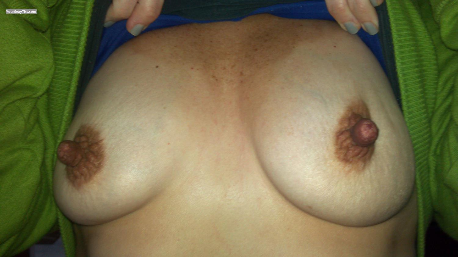 Tit Flash: Wife's Small Tits - GreatNips69 from United States