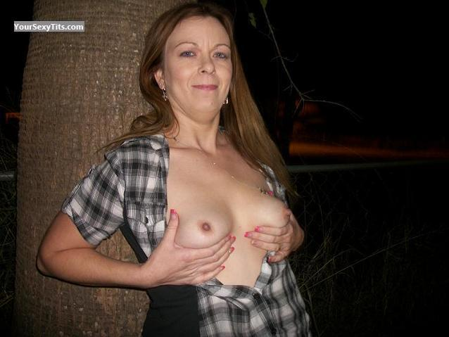 Tit Flash: Small Tits - Topless Boo77 from United States