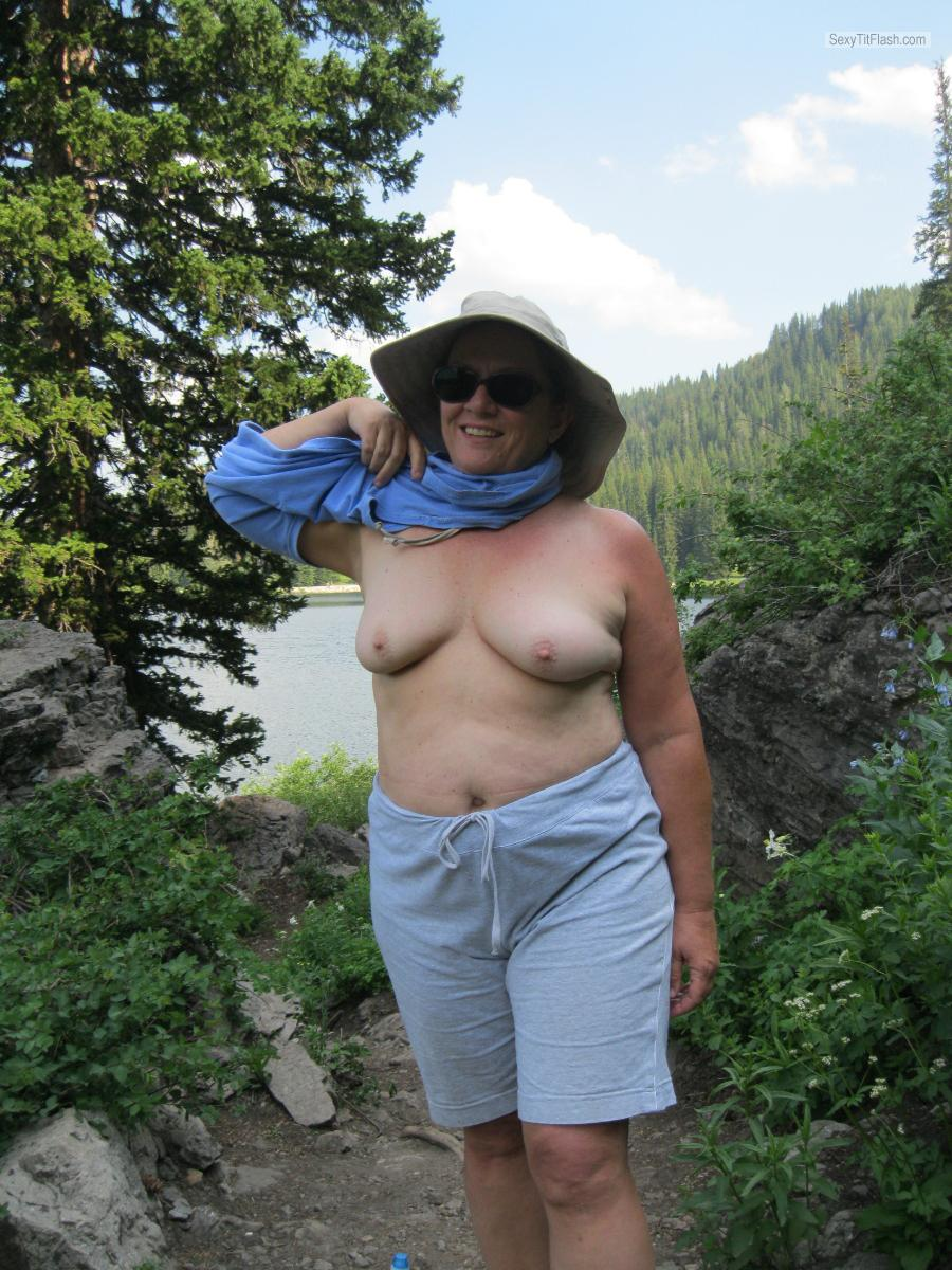 Tit Flash: My Tanlined Small Tits - Karenkri from United States